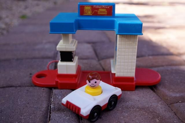 Anne's Odds and Ends: Fisher Price Friday - Gas Station #2455 from 1990.