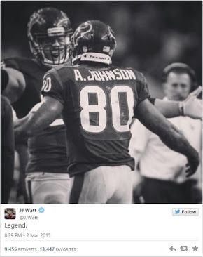 J.J. Watt extends classy tribute to Andre Johnson - Ultimate Texans