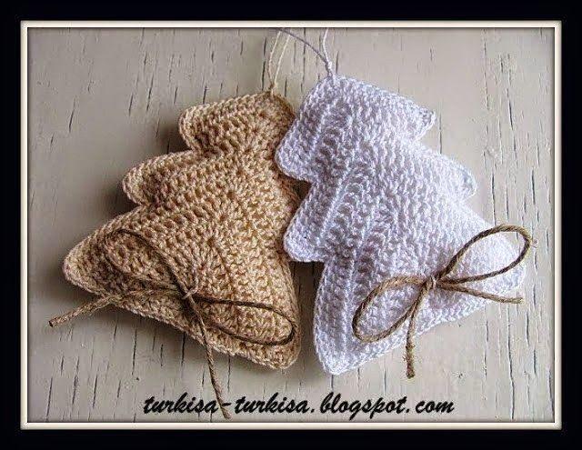 Encantador Los Patrones De Crochet Libre Adornos De Navidad Patrón ...