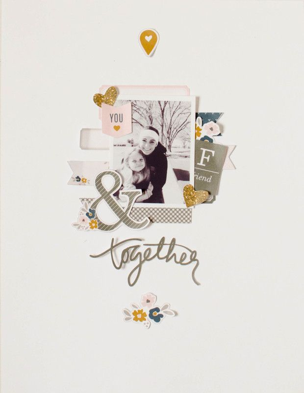 Papercrafting ideas: scrapbook layout idea. #papercraft #scrapbooking #layouts. friends   hybrid page by 3littleks at @studio_calico