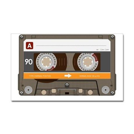 Cassette tape, Tape and Stickers on Pinterest