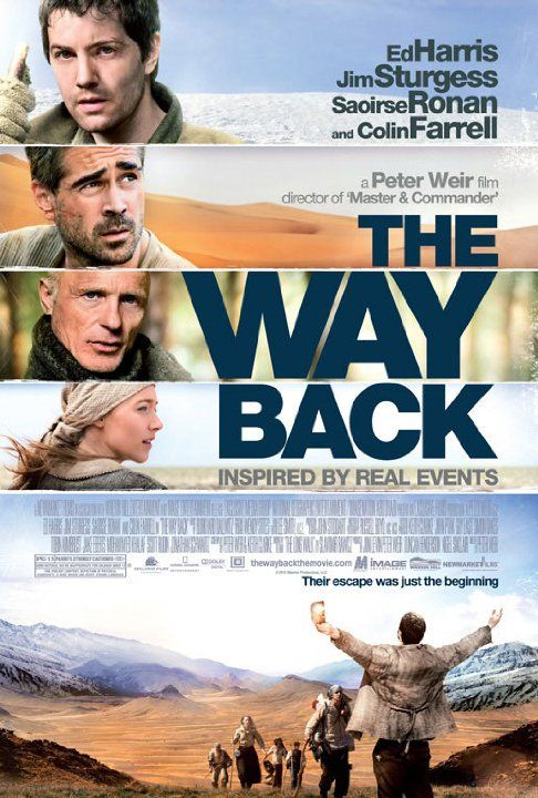 The Way Back (2010)Siberian gulag escapees walk 4000 miles overland to freedom in India.