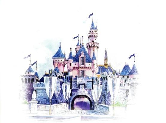 Sketch Of Sleeping Beauty Castle At Hong Kong Disneyland Imagineering Pinterest