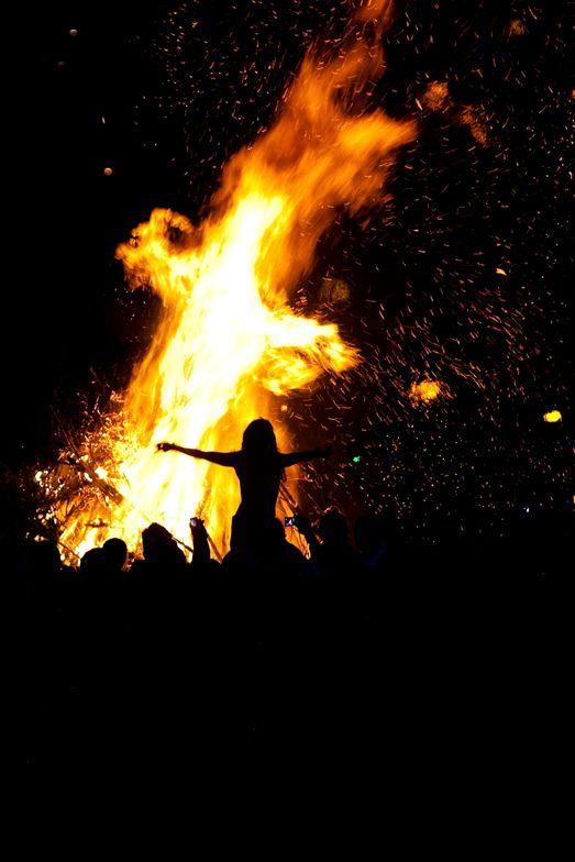 Beltane Fire Festival on Calton Hill in Edinburgh, Scotland
