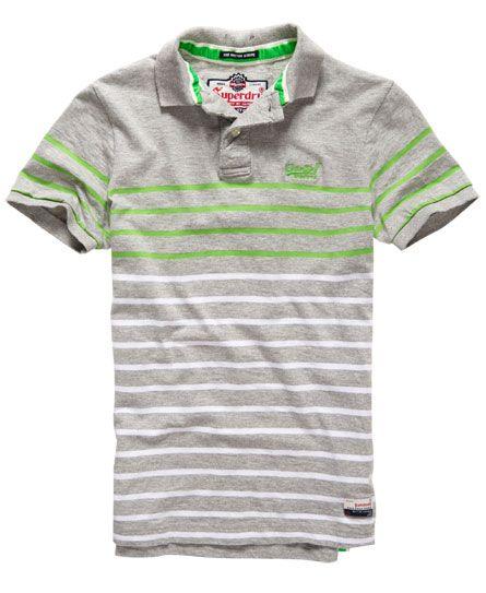 Superdry Chest Band Breton Polo Shirt