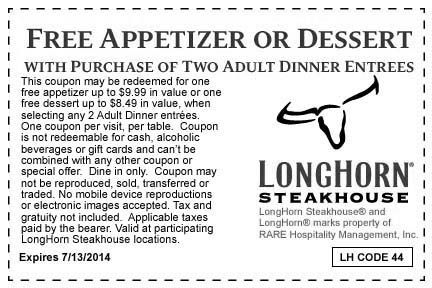 Exclusive Summer Offer  Expires 7/13/2014 Longhorn steakhouse coupons http://www.pinterest.com/TakeCouponss/longhorn-steakhouse-coupons/