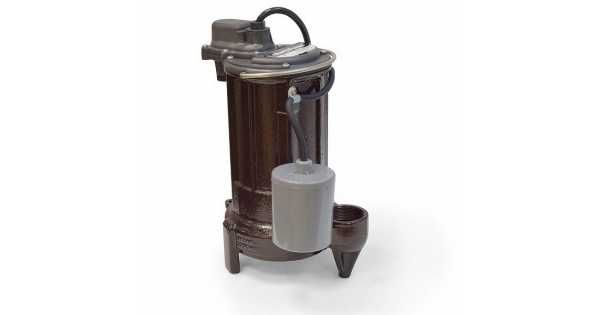 1/2 HP Automatic Sump / Effluent Pump w/ Piggyback Wide Angle Float Switch, 110V ~ 120V, 25' cord