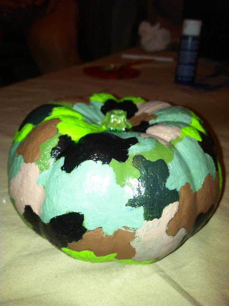Camo pumpkin | Finished Pinterest Project | Pinterest ...
