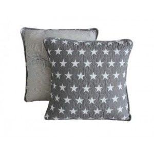 Biggie Best Grey Star Quilted Cushion