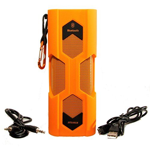 Rugged Portable Waterproof Bluetooth Speaker From Sound Monkey Audio ~ 10 Watts of Power ~ Waterproof Level Ipx6 ~ Speakerphone Capable ~ Mango Orange ~ Free USPS Priority Shipping in the US ~ ~ Use At Pool, Boating, Hiking, Kayaking, Atv, Shower or Anyplace You Get Wet Kiss The Sun http://www.amazon.com/dp/B00XKNCZJI/ref=cm_sw_r_pi_dp_XB6Gvb0ZMGT72