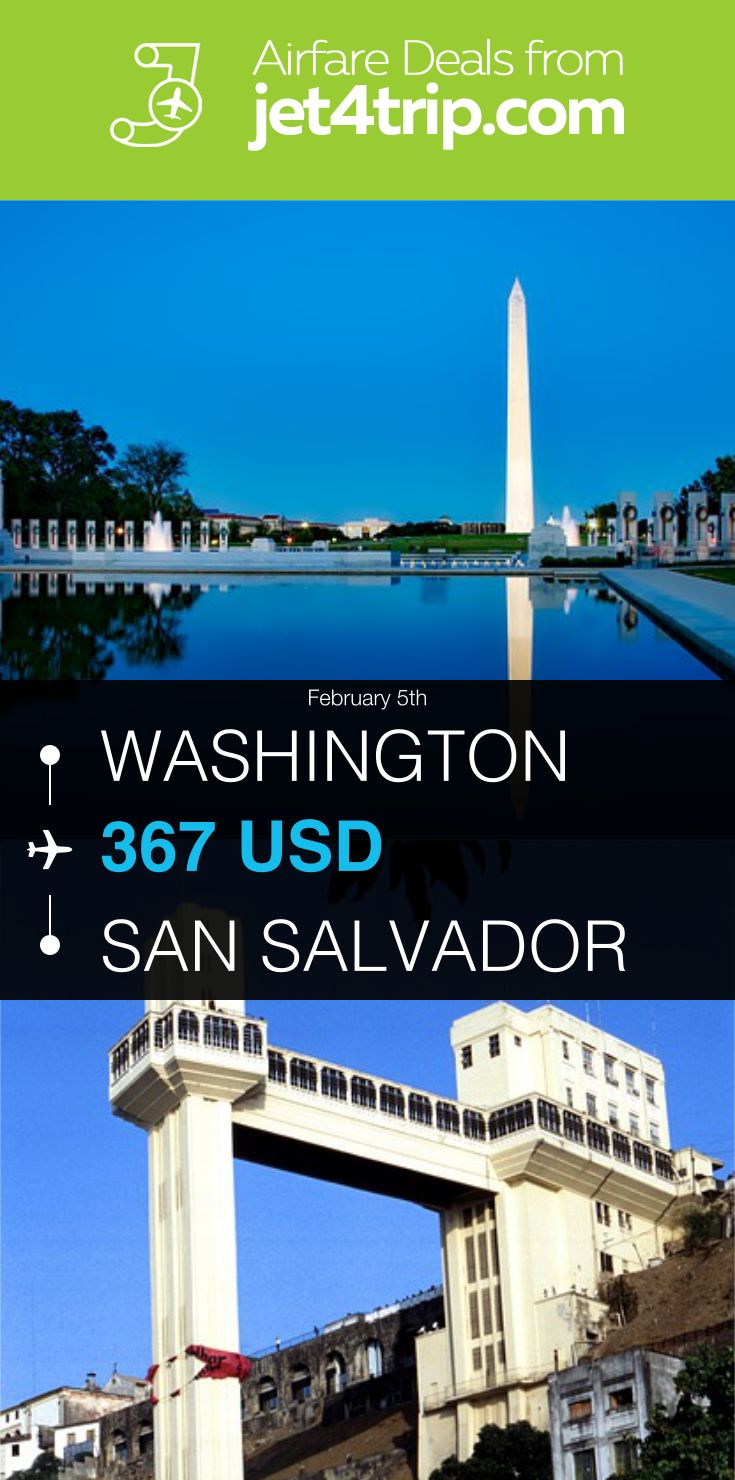 Flight from Washington to San Salvador for $367 by United Airlines #travel #ticket #deals #flight #WAS #SAL #Washington #San Salvador #UA #United Airlines
