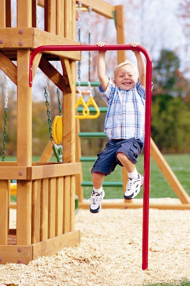 Features:  -Powder-coated galvanized steel.  -Develops strength and coordination.  -Attaches to swing set play decks.  -Rust-proof.  -Swing set accessory makes great addition to swing sets.  Product T
