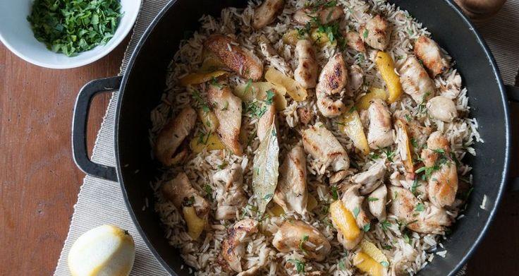 Κοτόπουλο λεμονάτο με ρύζι