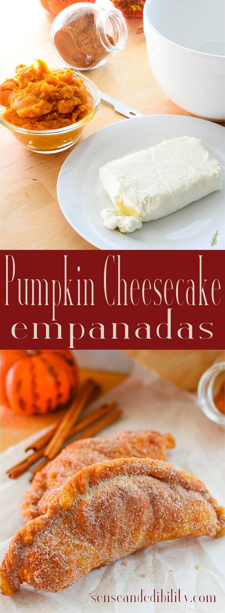 Sense & Edibility's Pumpkin Cheesecake Empanadas Pin