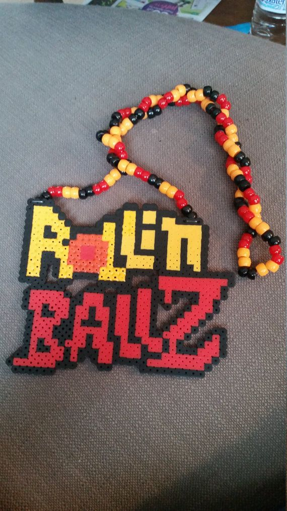 Kandi, DBZ inspired Perler Necklace
