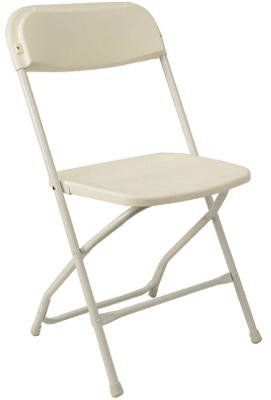 Pre Sales 2180 White Plastic Dining Folding Chair (Pack Of 10) By PRE SALES
