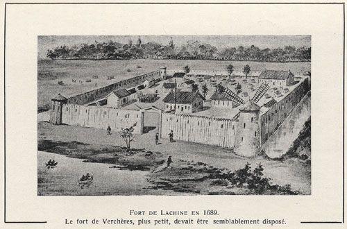 Fort de Lachine en 1689