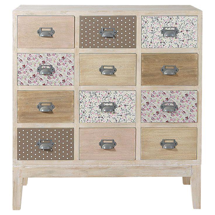 Caisse En Bois Maison Du Monde : Wood Chest 12 Drawers