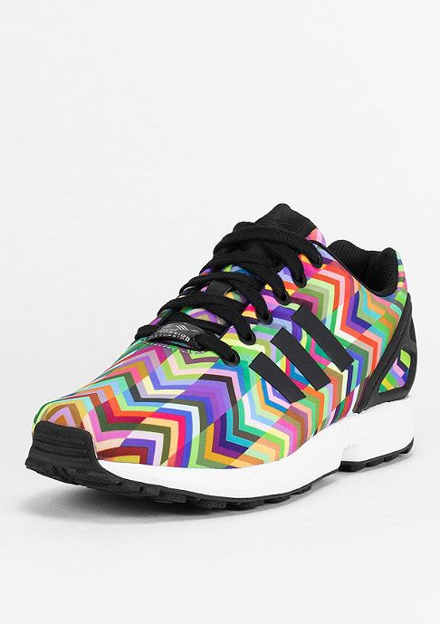 Classy Quality Adidas Zx Flux Rainbow Colors Running Shoes