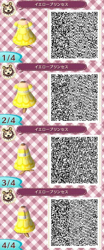 DISNEYS BEAUTY AND THE BEAST. BELLES DRESS. ANIMAL CROSSING NEW LEAF. QR CODE. ACNL. PINNED BY Stephy Sama