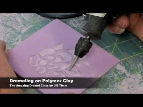 polymer clay engraving with dremel