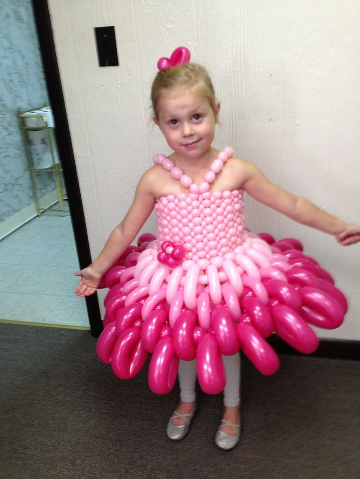 Reagan's first balloon dress