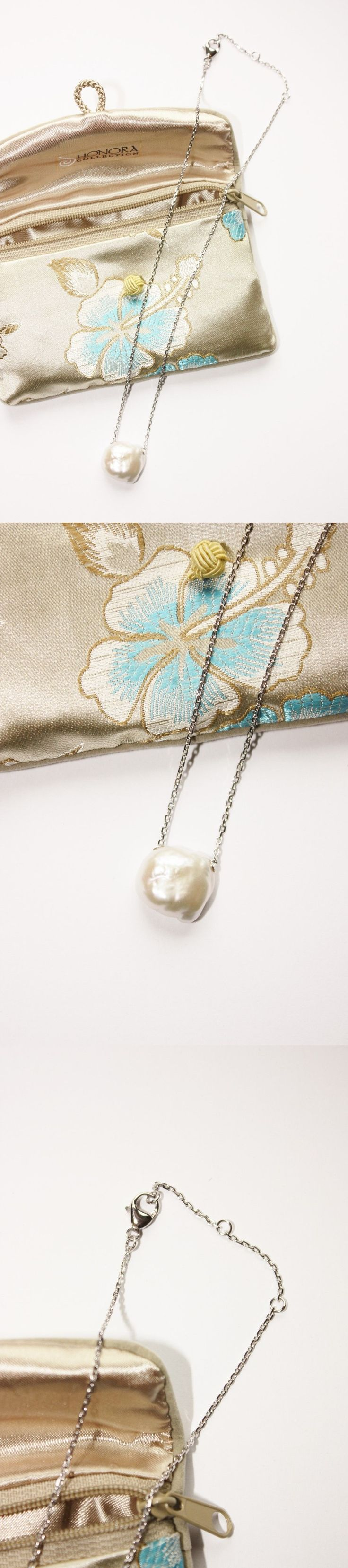 Pearl 164333: Bnib Honora Qvc Cultured 14Mm Souffle White Pearl Sterling Silver Necklace! -> BUY IT NOW ONLY: $99.97 on eBay!