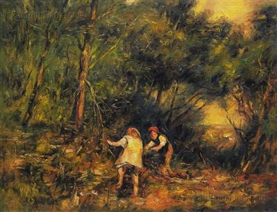 The Rabbit Burrow ~ Frederick McCubbin ~ (Australian: 1855-1917)