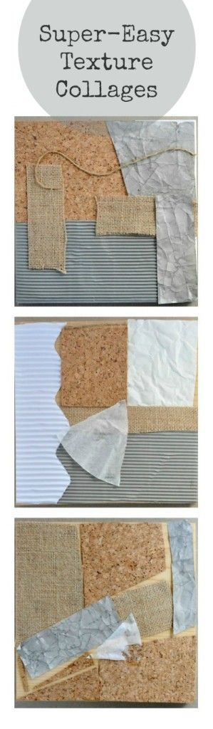 Easy texture collage art project for kids • TinyRottenPeanuts                                                                                                                                                                                 More