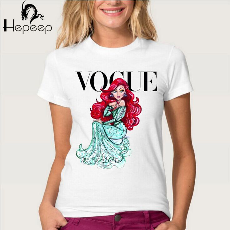 VOGUE punk princess print T Shirt 2016 summer fashion women t shirt funny Harajuku short sleeve casual tees lovrly tops-in T-Shirts from Women's Clothing & Accessories on Aliexpress.com | Alibaba Group