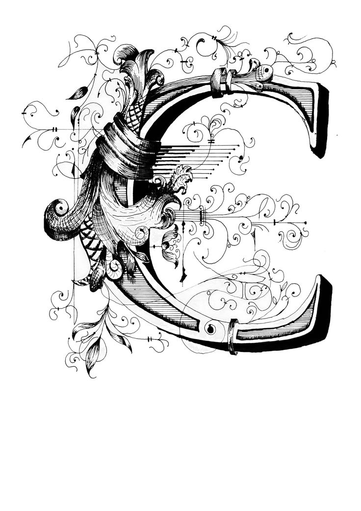 Calligrafia Lettera C By Wrap1 Typsnitt Pinterest