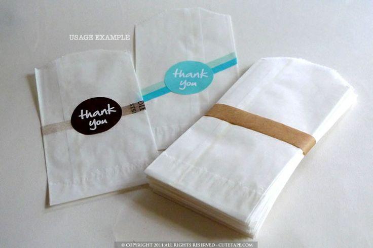 Washi Tape + Glassine Bags