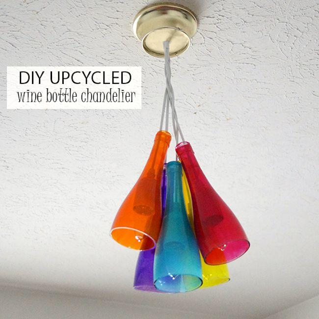 DIY chandelier using Mod Podge Sheer Colors - Mod Podge Rocks