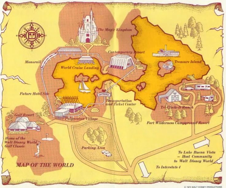 87 best retro disney world images on pinterest old disney vintage vintage disneyworld magic kingdom tourist map 1970s gumiabroncs Image collections