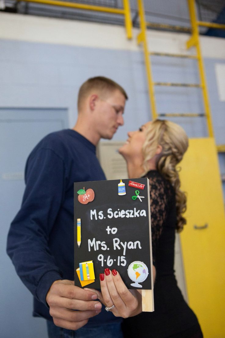 Teacher Getting married!  You could use sign for a save the date or your desk to let students know!