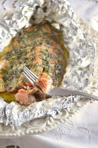 Filetto di salmone al cartoccio- Ricetta.