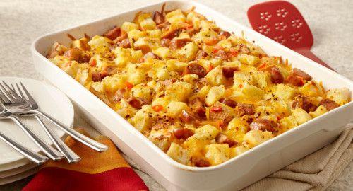 csirkés baconos rakott krumpli