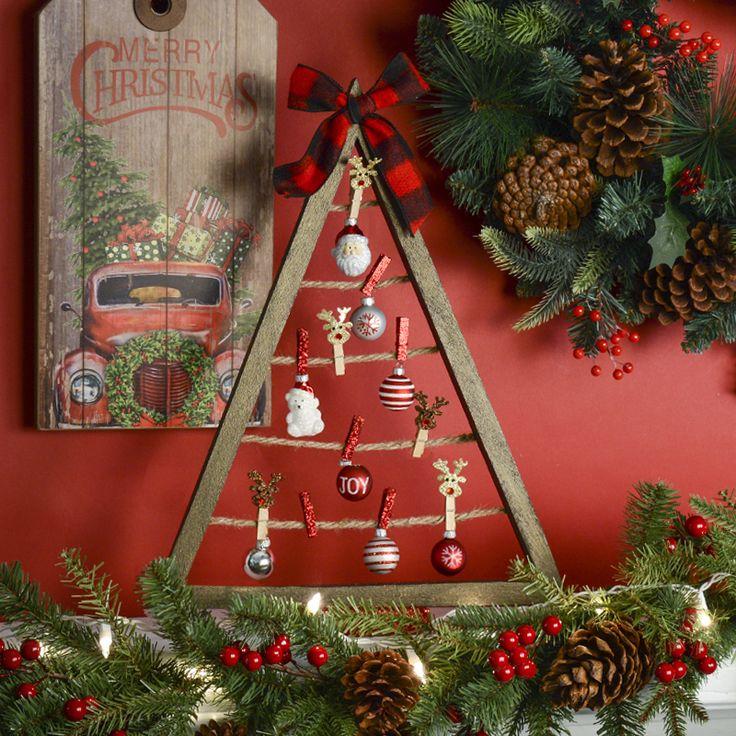 DIY Greeting Card Holder Tree Clip Tree Christmas