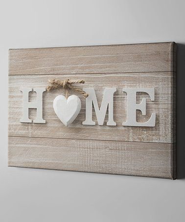 Another great find on #zulily! 'Home' Wrapped Canvas #zulilyfinds