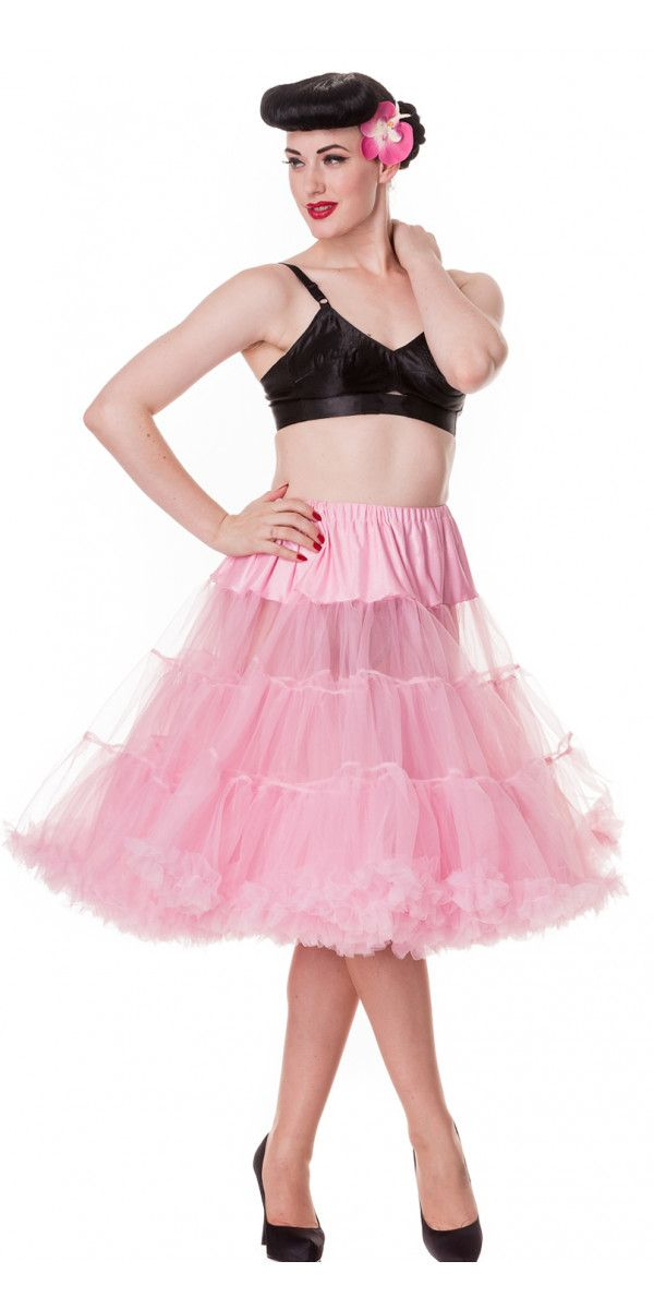 Tea Length Bubble Gum Pink Petticoat