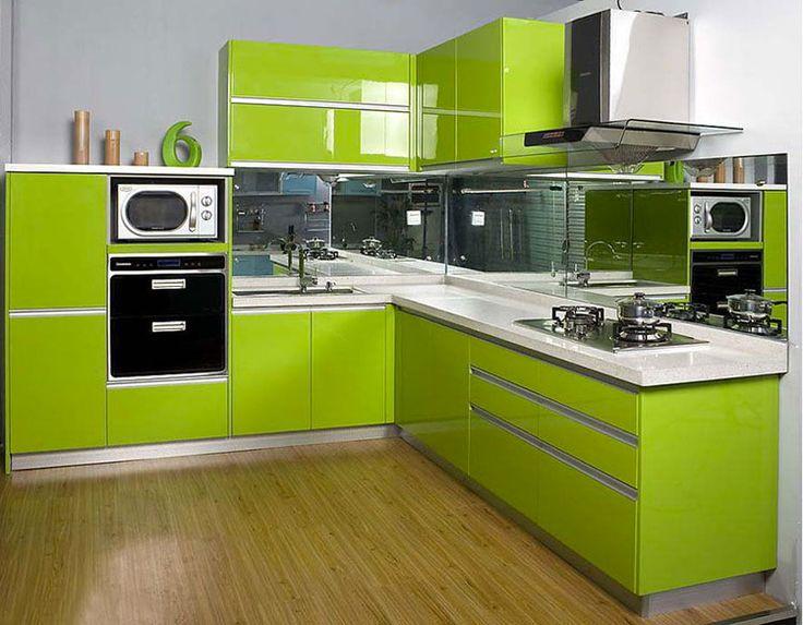 Cucina verde moderna 02