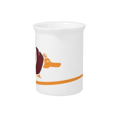 #Abstract Southwestern Armadillo Drink Pitcher - #Petgifts #Pet #Gifts #giftideas #giftidea #petlovers