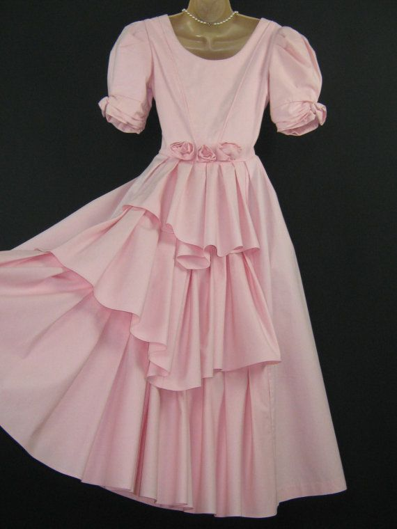 LAURA ASHLEY Vintage Romantic Tiered Rosette Embellished  Bridesmaid / Occasion Dress, UK 8/10