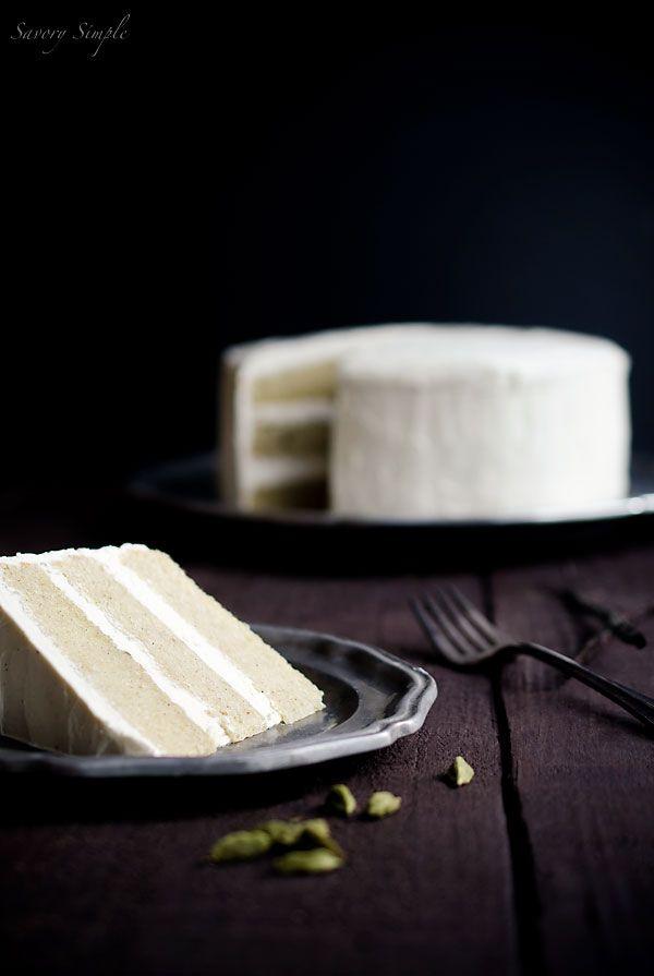 Cardamom Vanilla Bean Layer Cake - Savory Simple #recipe