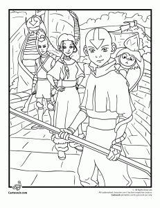 28 best images about avatar the last airbender coloring pages on