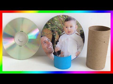 Regalo para PapáPortaretratos recicladoGift for dadcomo hacer portaretratosGift for father's day - YouTube