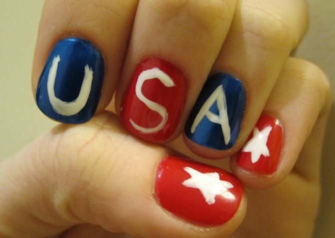usa nail art. This one I might be able to do... maybe.