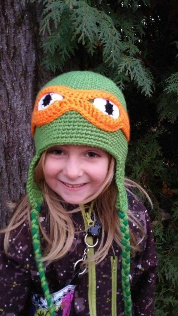 Retrouvez cet article dans ma boutique Etsy https://www.etsy.com/ca-fr/listing/255536810/tuque-ninja-turtles-tuque-tmnt-tuque