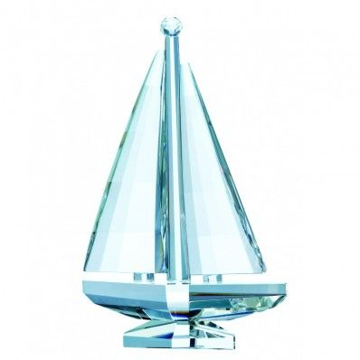 Beautifully designed Galway Crystal Sailing Boat <3