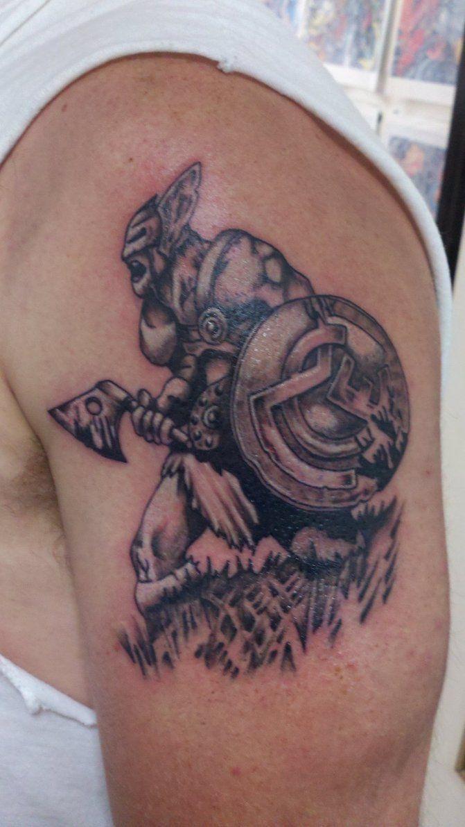 Viking Warrior Tattoo  Black And Gray By Joeyellisontattooart
